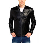 Hummingbird Leather Jacket // Black (2XL)