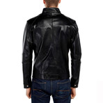 Swallow Leather Jacket // Black (XS)