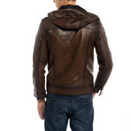 Gadwall Leather Jacket // Tobacco (S)