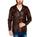 Osprey Leather Jacket // Brown (XL)