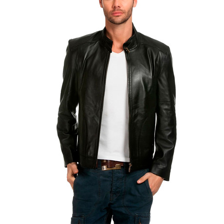 Thrush Leather Jacket // Black (XS)