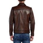 Dove Leather Jacket // Brown (XS)