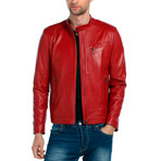 Bobolink Leather Jacket // Red (L)