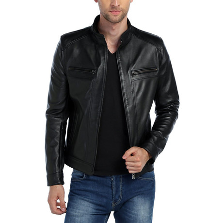 Eagle Leather Jacket // Black (XS)