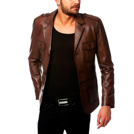 Starling Leather Jacket // Tobacco (XS)