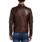 Peregrine Leather Jacket // Brown (3XL)