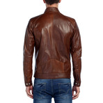 Robin Leather Jacket // Tobacco (S)