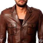 Starling Leather Jacket // Tobacco (2XL)