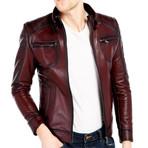 Sandhill Leather Jacket // Bordeaux (L)