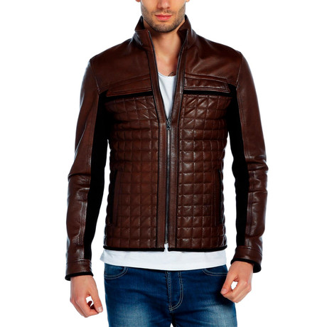 Heron Leather Jacket // Brown (XS)