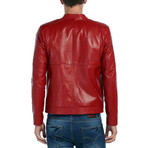 Bobolink Leather Jacket // Red (M)