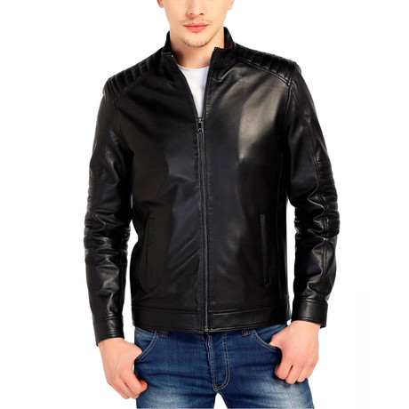 Egret Leather Jacket // Black (XS)