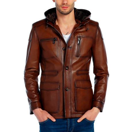 Pintail Leather Jacket // Tobacco (XS)