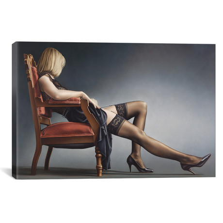 """Passively Evocative In Chair (18""""W x 12""""H x 0.75""""D)"""