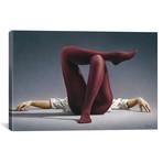 "Burgundy Legs Study (18""W x 12""H x 0.75""D)"