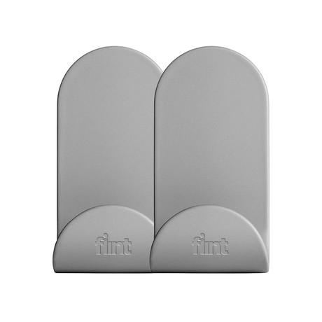 Flint Hook Dry Wall // J // Gray // Set of 2