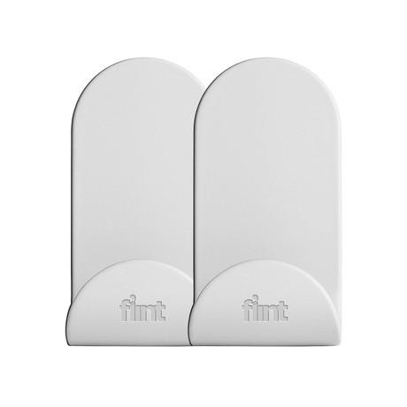 Flint Hook Dry Wall // J // White (Set of 2)