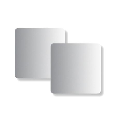 Flint Hook Dry Wall // Magnet Board 5.75 x 3.75 // Silver // Set of 2