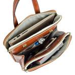 Clarissa // Women's Convertible Leather Backpack // Orange