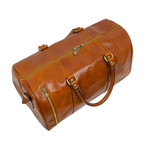 Wise Children // Leather Duffle Bag // Light Brown