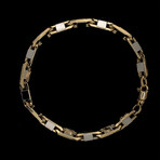 Solid 18K Yellow Gold Elongated Mirror Anchor Link Bracelet