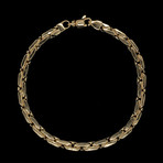 Solid 18K Yellow Gold Tight Oval Link Bracelet