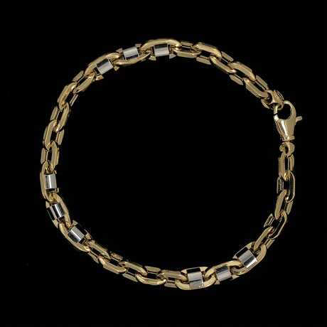 Solid 18K Yellow Gold Anchor Link Bracelet