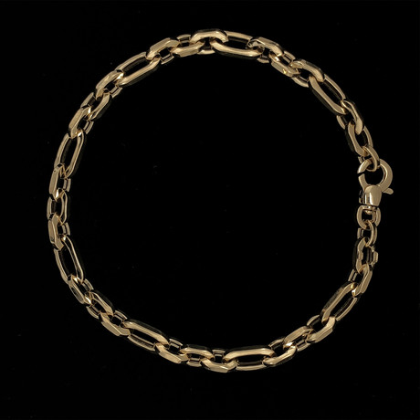 Solid 18K Yellow Gold Cable Link Bracelet
