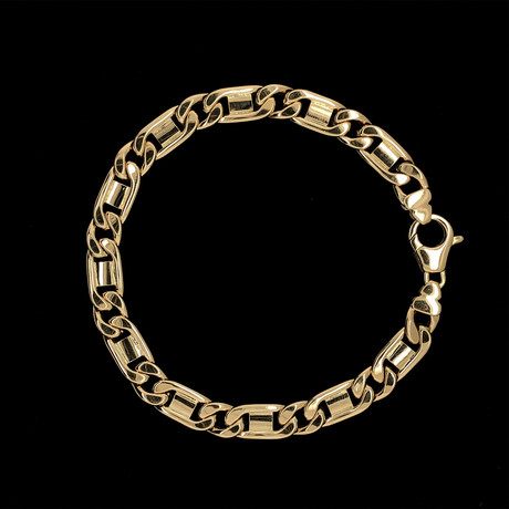 Solid 18K Yellow Gold Figarucci Bracelet