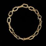 Solid 18K Yellow Gold Open O-Link Bracelet
