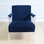 London Collection // Acrylic + Velvet Accent Chair