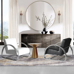 Barron Modern Lounge Chair (Black)
