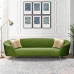 Chloe Collection // Velvet Sofa (Green)