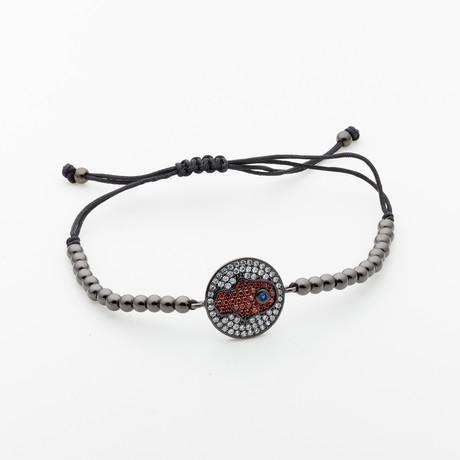 Jean Claude Jewelry // Hamsa Bead Bracelet // Multicolor