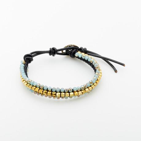 Jean Claude Jewelry // Adjustable Crystal Bracelet // Multicolor