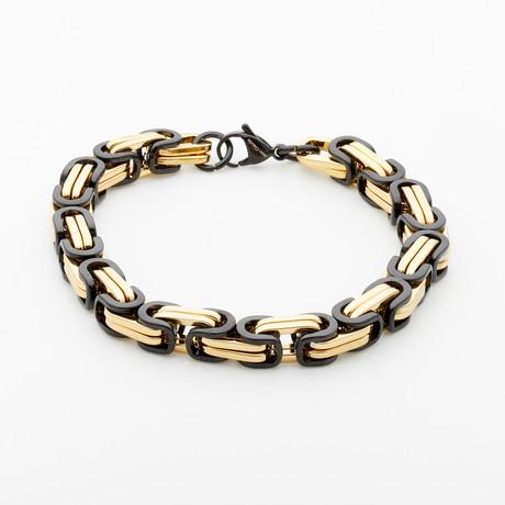 Jean Claude Jewelry // Stainless Steel Bracelet // Gold + Black