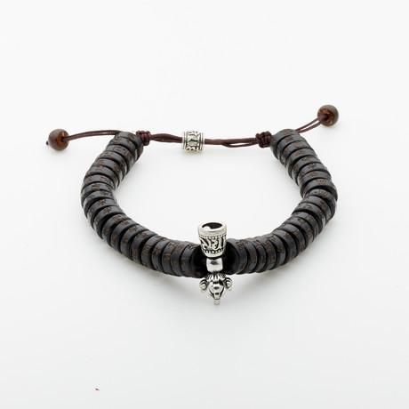 Jean Claude Jewelry // Buddha Sandalwood Healing + Power Bracelet // Dark Brown
