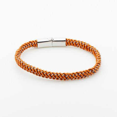 Jean Claude Jewelry // Leather Bracelet // Brown