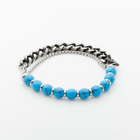 Jean Claude Jewelry // Turquoise Tone Bead Bracelet // Multicolor