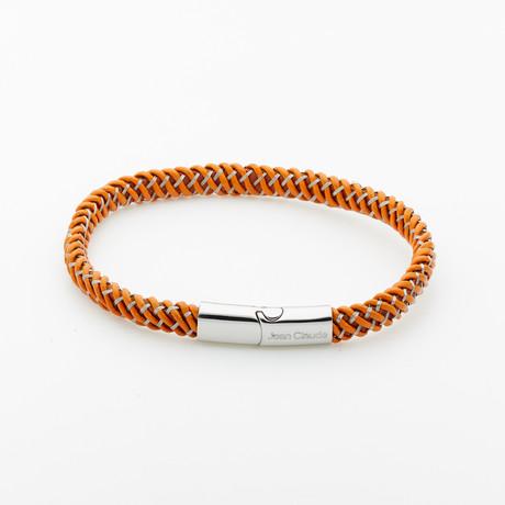 Jean Claude Jewelry // Leather Bracelet // Brown + Silver