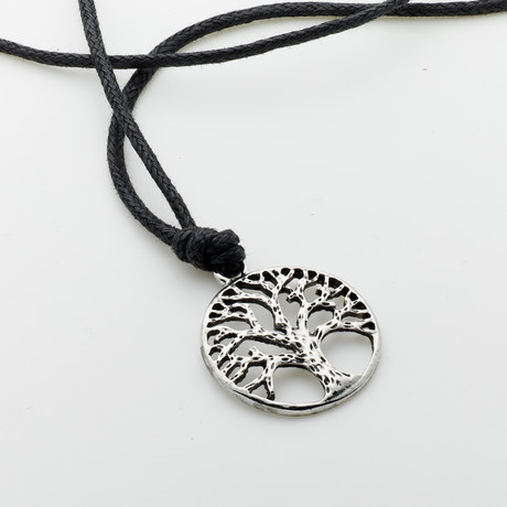 Jean Claude Jewelry // Tree Of Life Necklace // Black + Silver