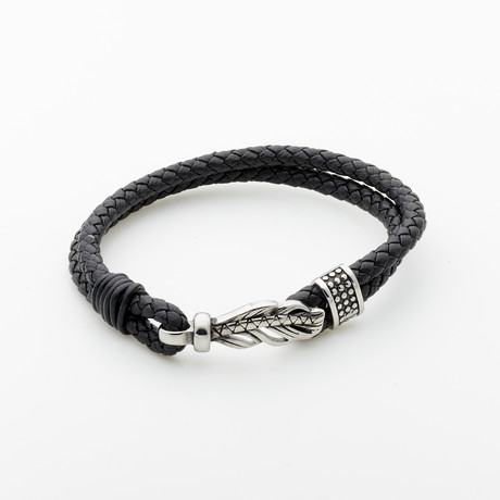 Jean Claude Jewelry // Lucky Feather Leather Bracelet // Multicolor