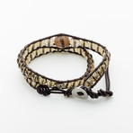 Jean Claude Jewelry // Macramé Smoky Quartz Wrap Bracelet // Multicolor