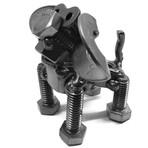Steel Scrap Metal Long Eared Dog Figurine