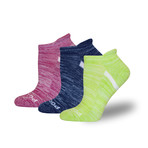 Proseries Women's No-Show Athletic Sock // Assorted // 3 Pack