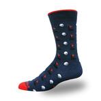Men's Proseries Clubhouse Crew Sock // Golf Balls + Tees (Black)