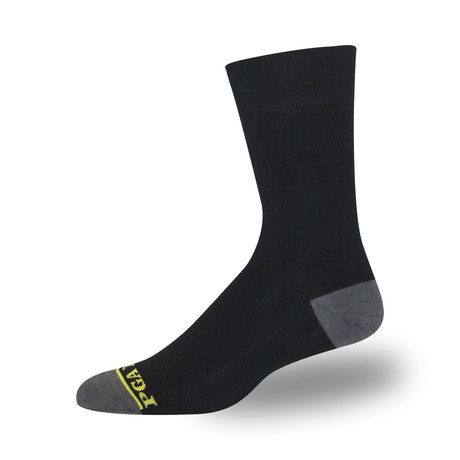 Men's Proseries Clubhouse Crew Sock // Classic Flat // Black