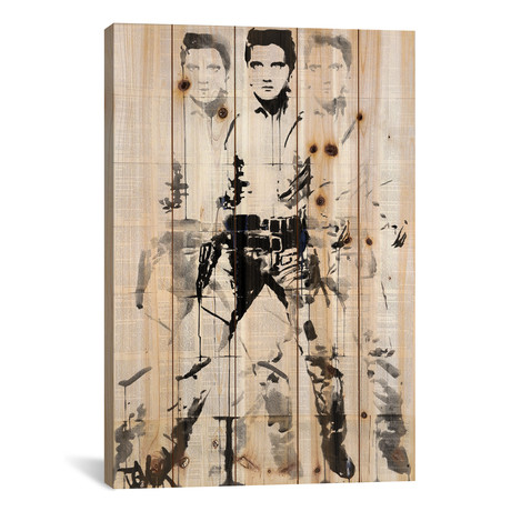 "Elvis After Andy // Loui Jover (18""W x 26""H x 1.5""D)"