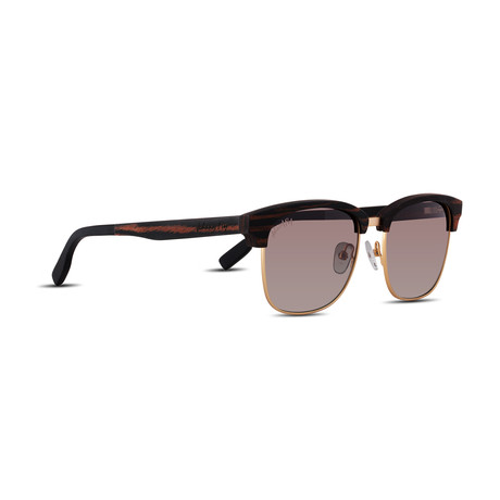 Unisex // Polarized // Hughes Sunglasses // Ebony Wood + Brown Gradient