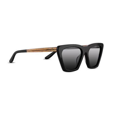 Unisex // Polarized // Figure Sunglasses // Gloss Black + Smoke